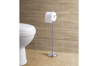 Toilet Tissue Paper Roll Holder Stand