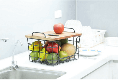 Fruit Basket With Cutting Table